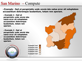 Map of San Marino  power Point templates