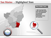 Map of San Marino  powerPoint backgrounds