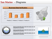 Map of San Marino  powerpoint backgrounds download