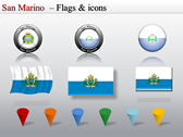 Map of San Marino  themes for power point