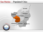 Map of San Marino  design for power point