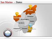 Map of San Marino  power point download