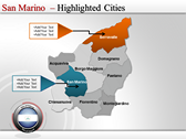 Map of San Marino  full powerpoint download