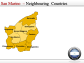 Map of San Marino  power point background graphics