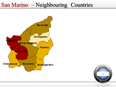 Map of San Marino  powerPoint themes