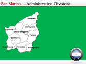 Map of San Marino  power Point theme