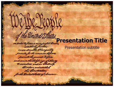 United States Constitution Powerpoint Templates