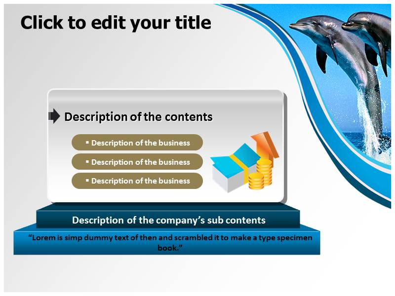 Dolphin Facts Powerpoint Templates