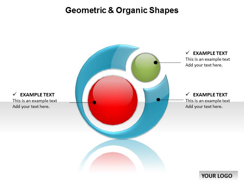Geometric Organic Shapes Powerpoint Templates