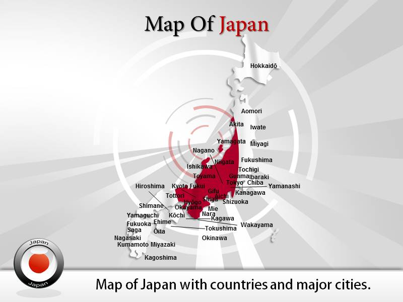 Japan Map Powerpointppt Background Templates And Slides