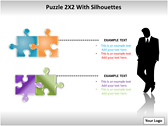 Puzzel 2x2 with Silhouettes PPT Template powerpoint download