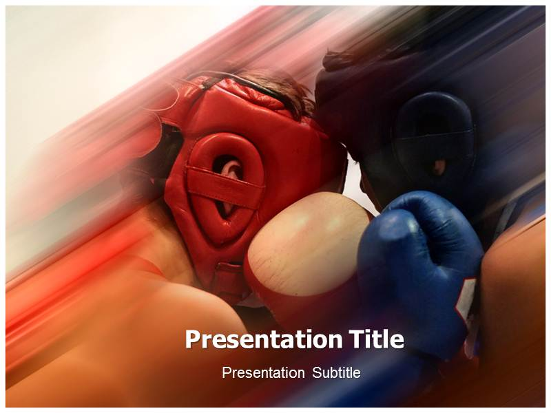 Amature boxing Powerpoint Templates