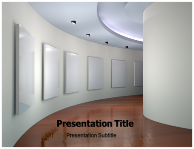 Art Gallery 3D Powerpoint Templates