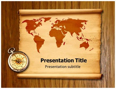 Geographical Map Powerpoint Templates