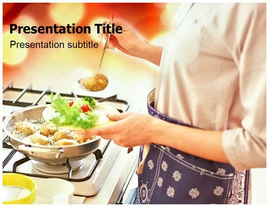 cooking at home (ppt) powerpoint template | cooking powerpoint, Modern powerpoint