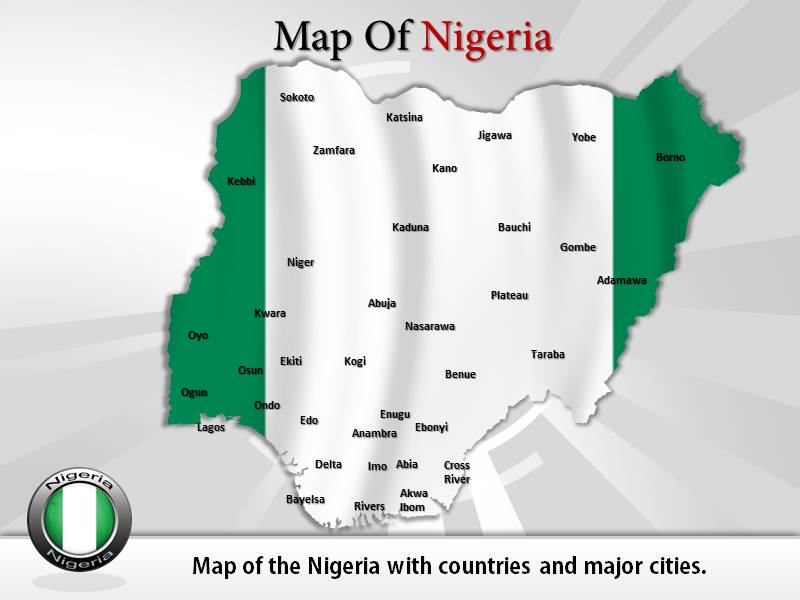 Nigeria Map Template PowerPoint