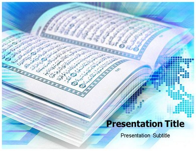 Quran powerpoint templates a holy book ppt background quran powerpoint templates toneelgroepblik Images