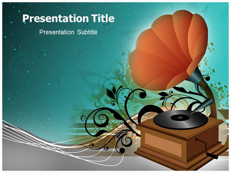 music themed powerpoint templates - music box powerpoint template powerpoint background on