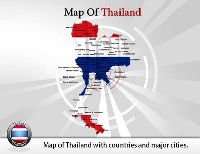Map of Thailand  PowerPoint Templates
