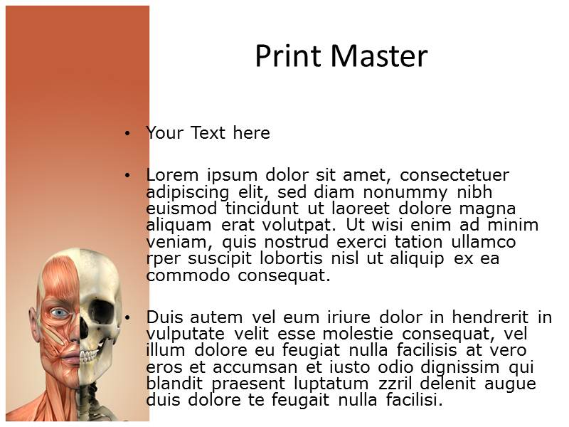 Face Anatomy Powerpoint Templates | Face Anatomy PPT Templates ...