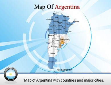 Argentina City Map  PowerPoint Templates