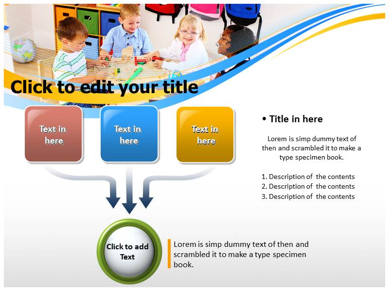 preschool powerpoint templates get ppt background on preschool, Modern powerpoint