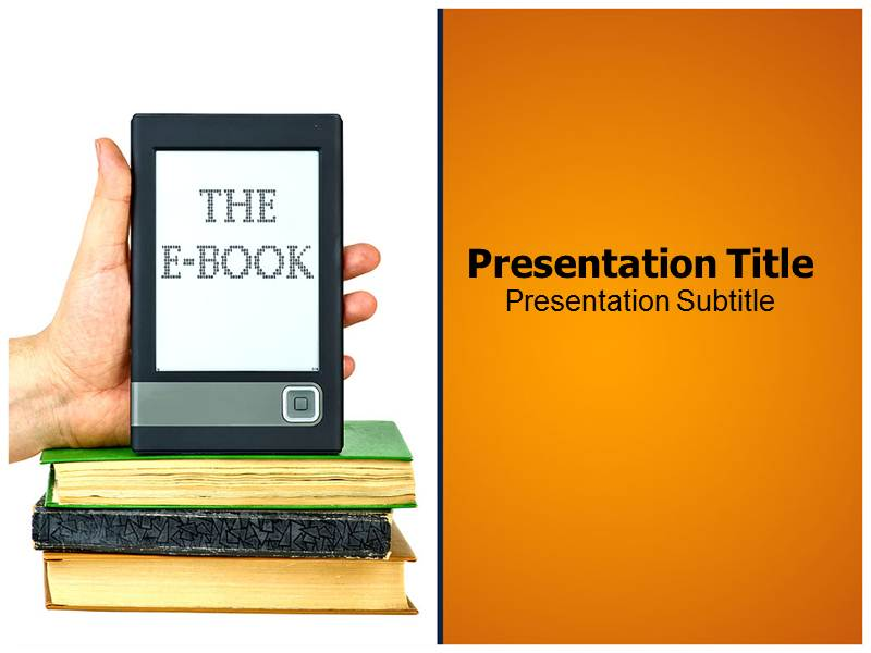 E Book Reader Powerpoint Templates