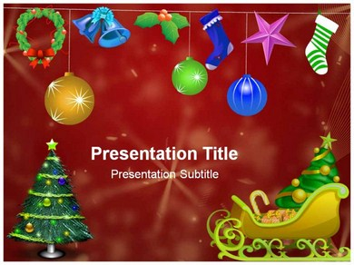 Merry Christmas ppt background Powerpoint Templates