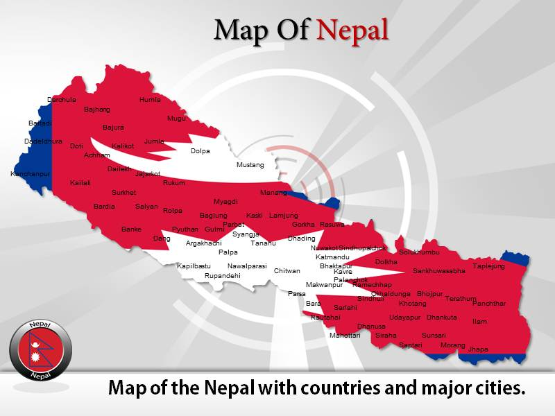 Map of Nepal  PowerPoint Templates