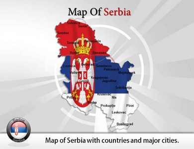 Map of Serbia  PowerPoint Templates