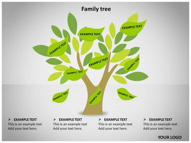 Family tree animated powerpoint template 08714