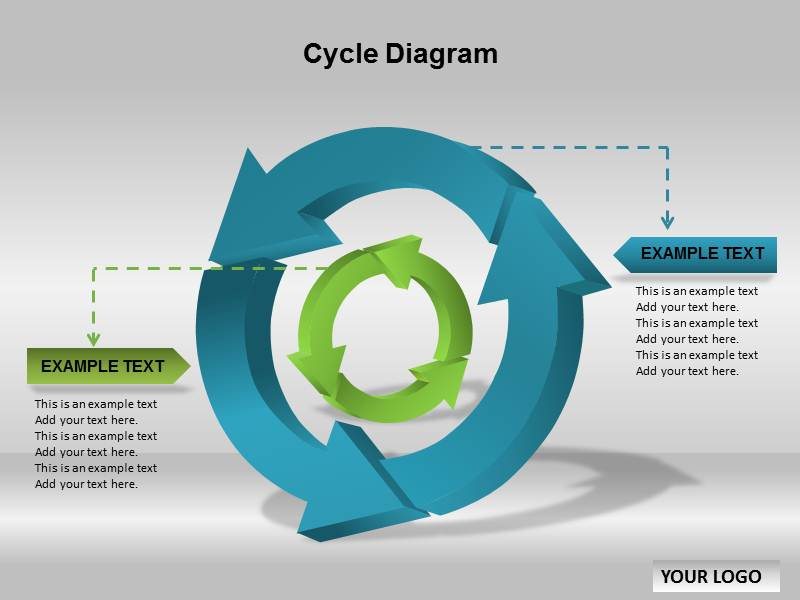 Cycle diagram powerpoint template Diagram drawing software free download