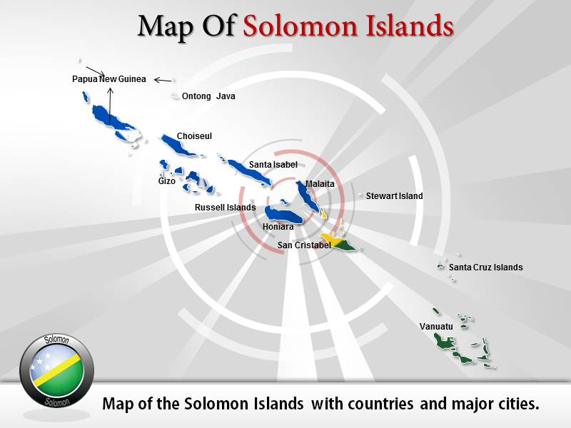Map of Solomon Islands  PowerPoint Templates