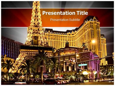 Paris At Las Vegas Powerpoint Templates