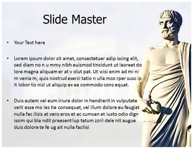 Aristotle ppt powerpoint template ppt template for philosopher previous template next template toneelgroepblik Gallery