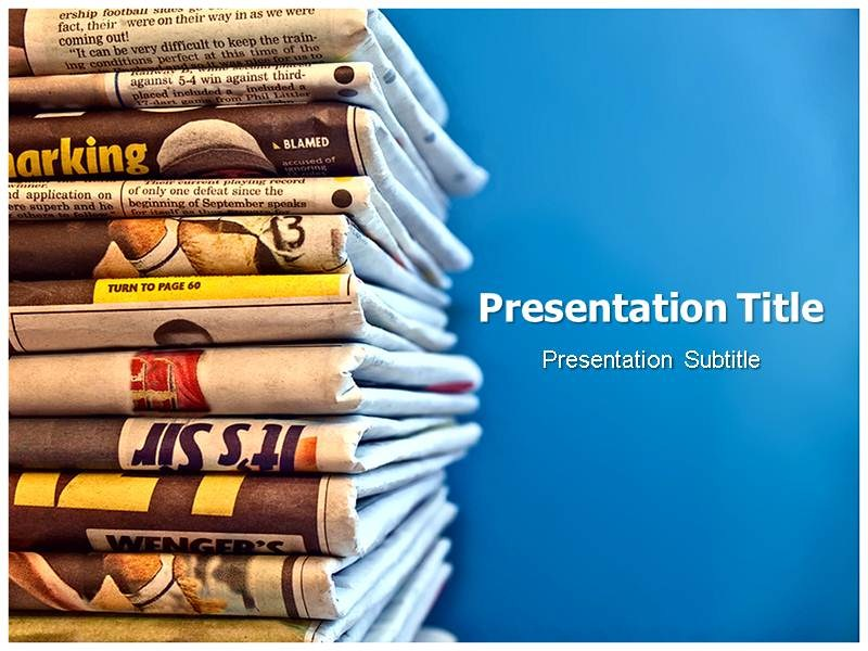 Newspaper Powerpoint Ppt Templates Powerpoint Template On