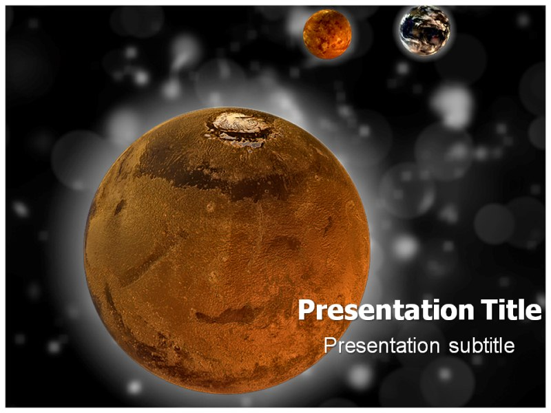mars powerpoint templates powerpoint presentation on mars template