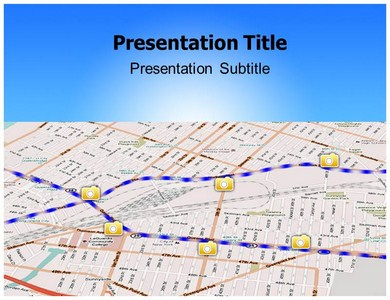 Street Mapping Powerpoint Templates