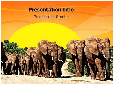 save wildlife Powerpoint Templates