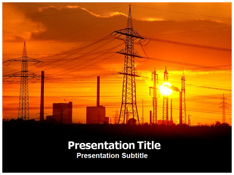 Power utility powerpoint templates having ppt template on electricity my toneelgroepblik Gallery