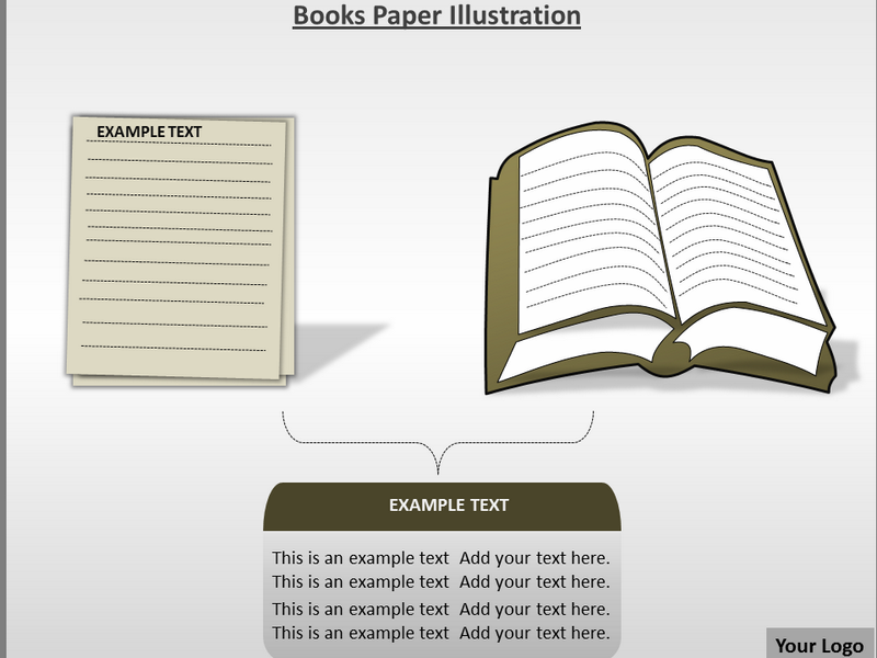 Books Paper Illustration Powerpoint Templates