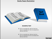 Books Paper Illustration powerpoint template download