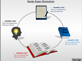 Books Paper Illustration power Point templates