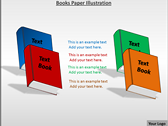 Books Paper Illustration background PowerPoint Templates