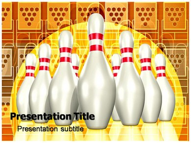 Bowling Game Play Powerpoint Templates