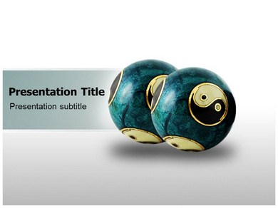 Chinese Therapy Balls Powerpoint Templates