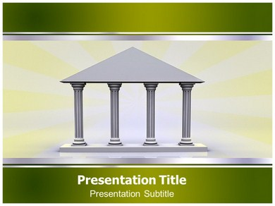 Greek Columns Arcitecture Powerpoint Templates