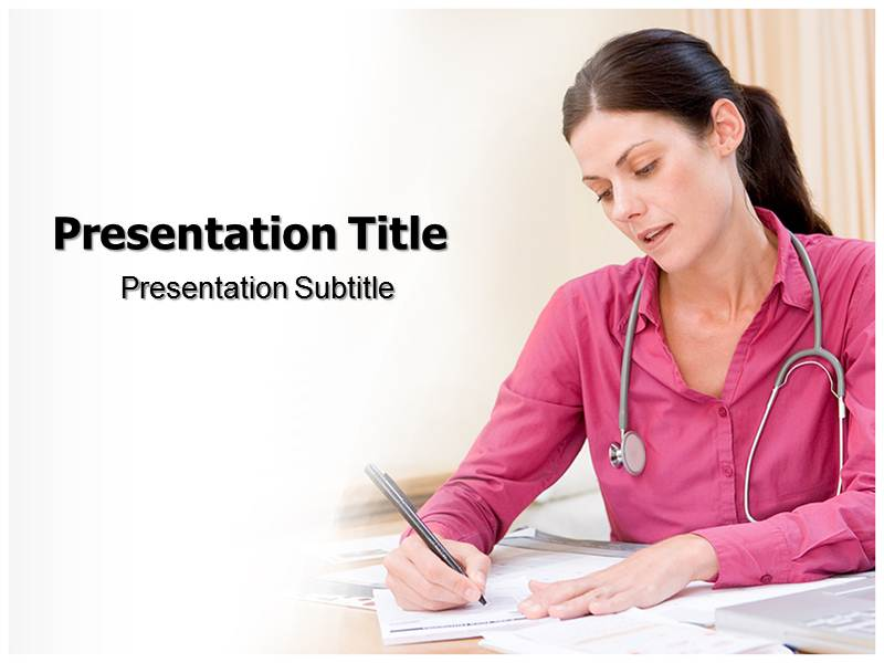 Personal Health Record Online Powerpoint Templates