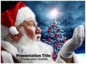 Santa Claus History powerPoint template