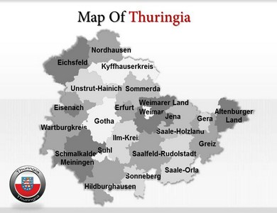 Thuringe Maps  PowerPoint Templates